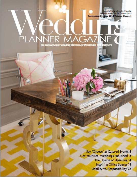 wedding planner magazine cover - Premier W.E.D.